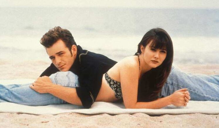 Brenda Walsh and Dylan McKay