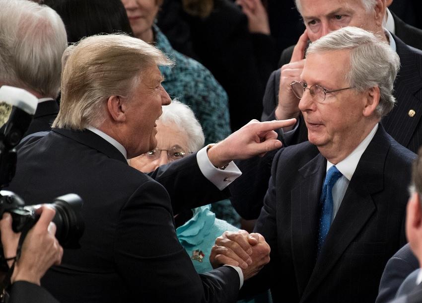 Mitch McConnel vs Trump