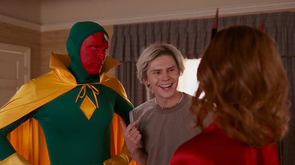 Pietro rescuing Vision from Wanda as Vision can't be with the kids on Halloween