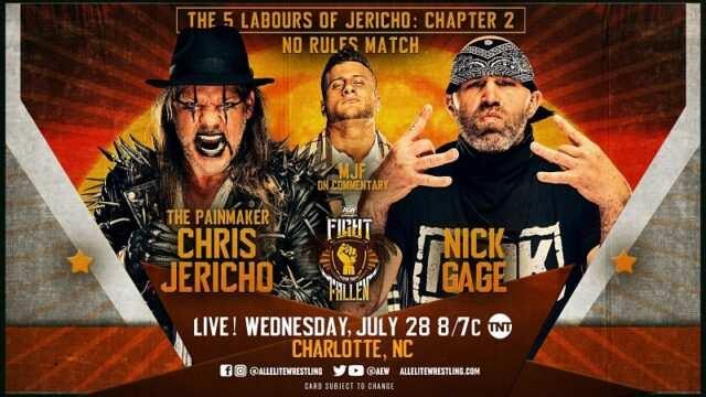 Chris Jericho Vs. Nick Gage: AEW Dynamite Battle For The Fallen