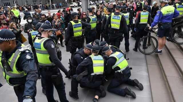 Australia Anti-lockdown protest