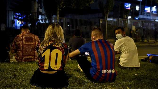 Barca Fans on Streets After Messi Left the club