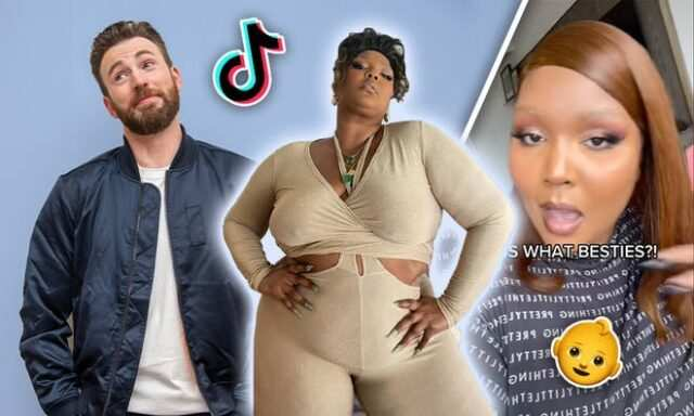 Chris Evans reacts to Lizzo