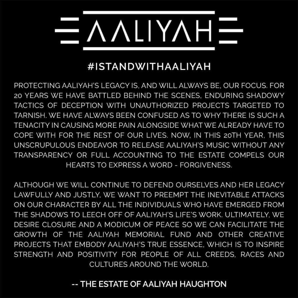 The Estate of Aaliya Haughton