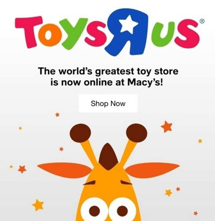 Macy's partnership with Toys 'R' Us