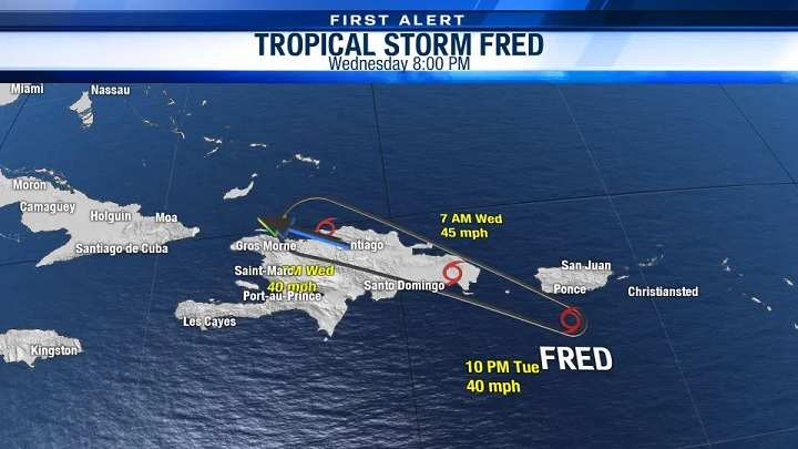 Tropical Storm Fred Puerto Rico