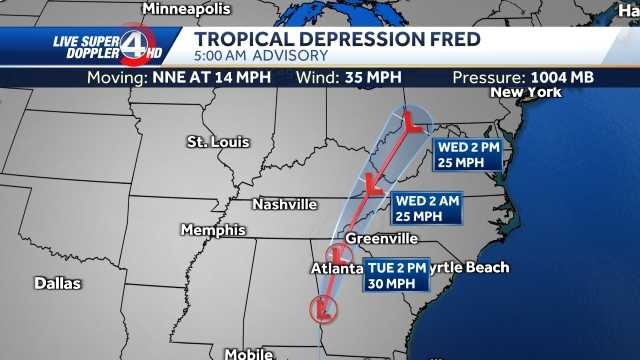 Watch Live: Tornado Warning, Flood Reported as Fred Brings Rain and Landfall in Georgia