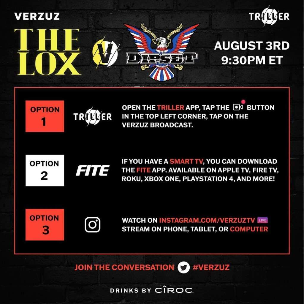 Watch Dipset and The LOX Verzuz Battle