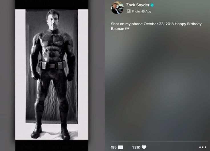 Zack Snyder Batman Costume